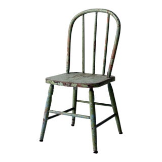 Antique Children's Chair With Spindle Back