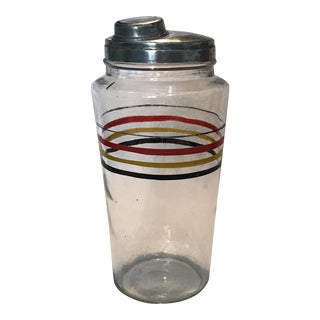 1930's Glass Cocktail Shaker