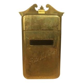 Rite a Note Vintage Brass Door Knocker