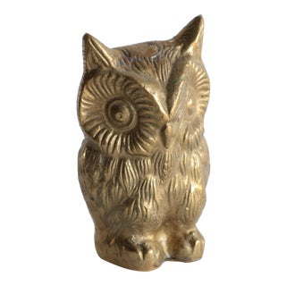 Solid Brass Owl Figurine