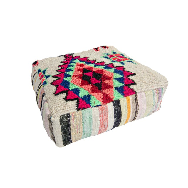 Vintage Moroccan Rug Floor Pillow - Image 1 of 2
