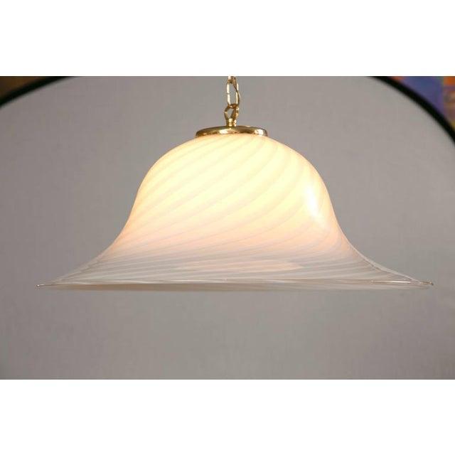 Murano Swirl Glass Dome Pendant Light - Image 3 of 9