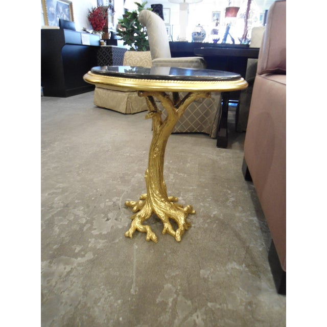 Gold Leaf Root Side Table - Image 4 of 10