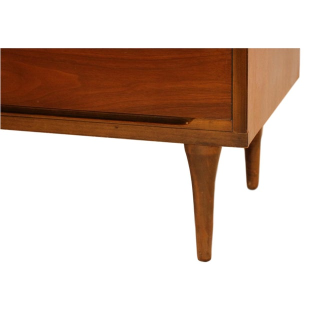 Mid-Century Walnut Chest Nightstands- A Pair - Image 9 of 10