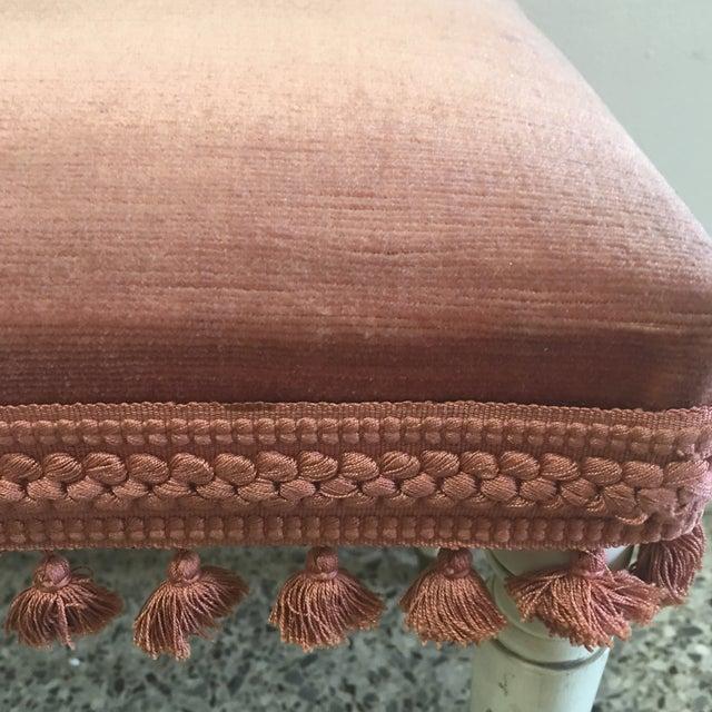 Jansen Style Rusty Pink Footstool - Image 3 of 8