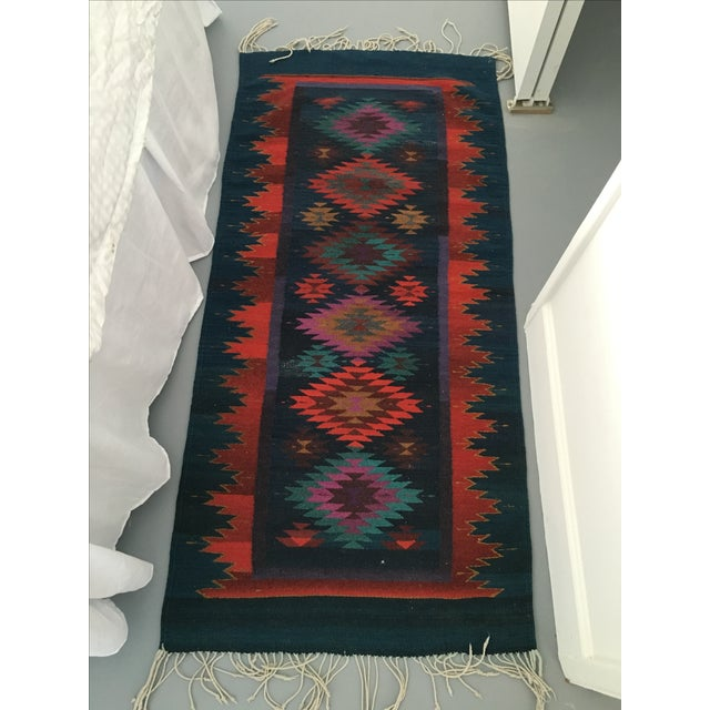 Vintage Handmade Reversible Navajo Arrows Rug - Image 7 of 8