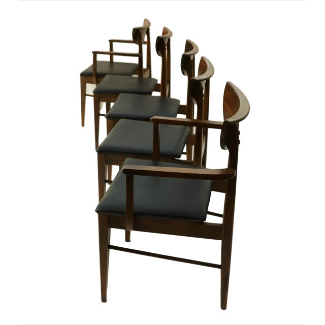 Mid Century Modern Bassett Dining Chairs - S/5 - Image 3 of 10
