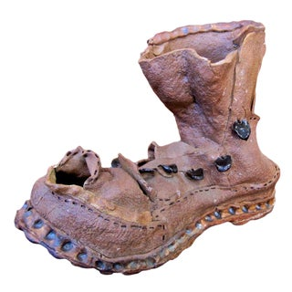 Clay Boot Sculpture