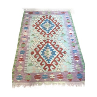 Turkish Kilim Rug - 3′8″ × 5′9″