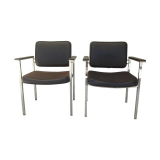 All Steel Co. Office Club Chairs - A Pair