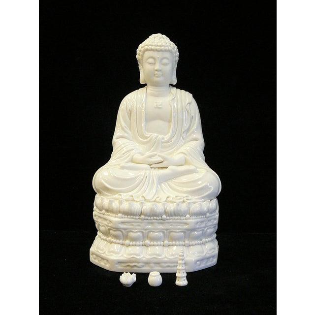 Chinese White Porcelain Buddha on Base Statue - Image 2 of 7