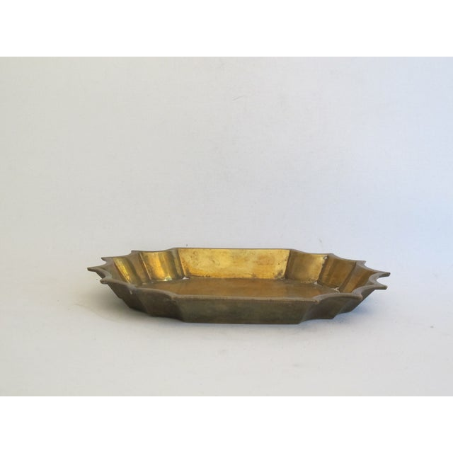Brass Scalloped Catchall - Image 3 of 4