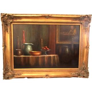 Tabletop Still Life in Gold Frame