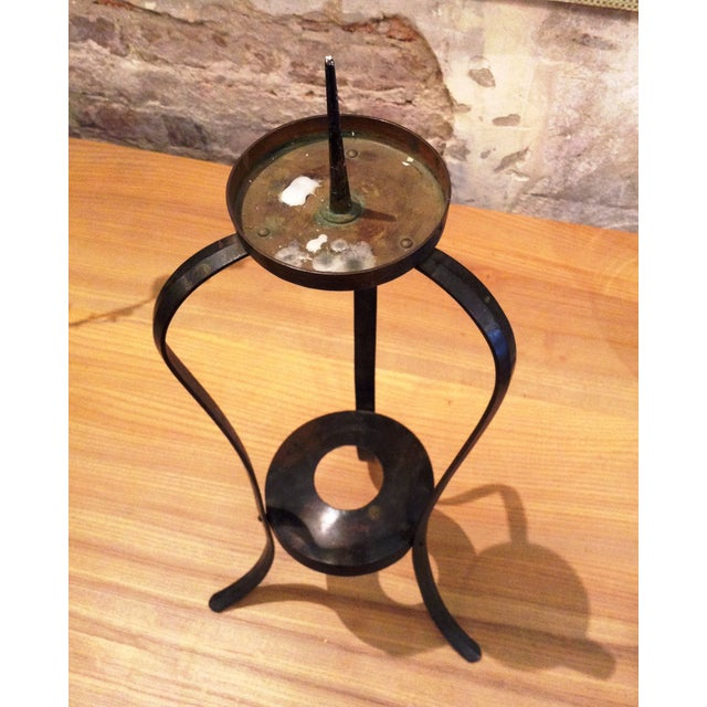 Early-20th Century Forged Japanese Candle Holder - Image 4 of 4