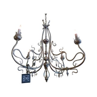 Art Nouveau Nickel Chandelier