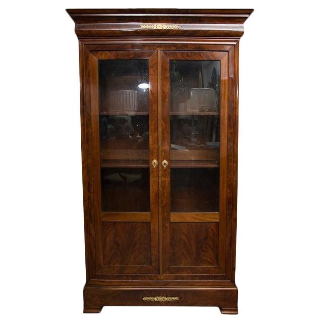 19th Century French Empire Mahogany Bookcase - Image 1 of 10