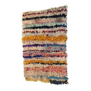 Vintage Boucherouite Carpet - 3′6″ × 5′