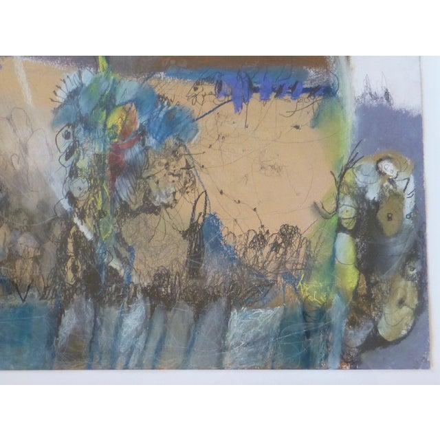 Image of Large Abstract Mid-Century Painting