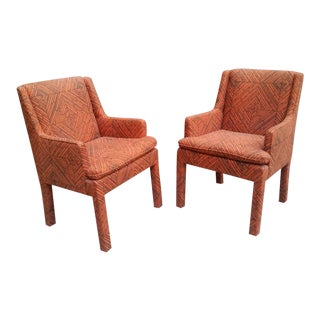 Set of Six Milo Baughman Parsons Style Dining Chairs