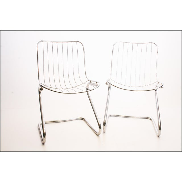 Vintage Italian Chrome Metal Dining Chairs - Set of 4 - Image 8 of 11