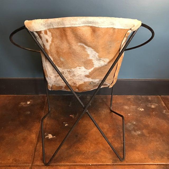Mid-Century Cowhide Sling Hoop Chairs - Image 10 of 10