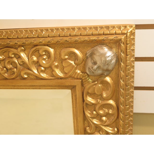 Friedman Brothers Custom Mirror With Cherub Heads - Image 10 of 11