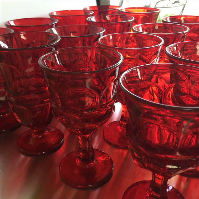 Fostoria Red Glasses - Set of 27 - Image 5 of 6
