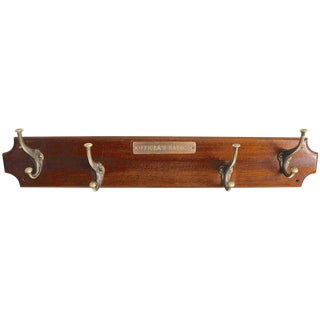 Officer's Saloon Hanging Coat Rack
