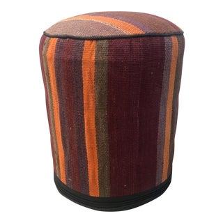 Vintage Kilim Fabric Stool