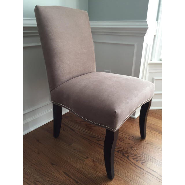Lee Industries Upholstered Dining Chairs With Accent Fabric on Back - Set of 4 - Image 8 of 12