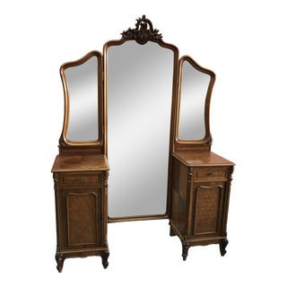 1880s Victorian Style Vanity With Mirrors
