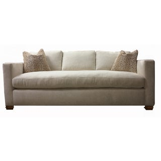 Custom Made White Tuxedo Sofa