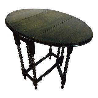 French Drop Leaf Gate Leg Side Table