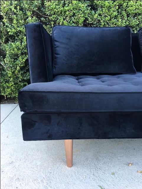 Custom Wormley Style Sofa With Copper Legs Chairish
