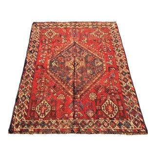 "Vintage Persian Shiraz Rug - 3'6"" x 4'8"""