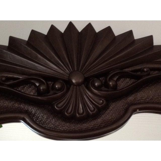 Image of Bronzed Espresso Wicker & Wood Mirror
