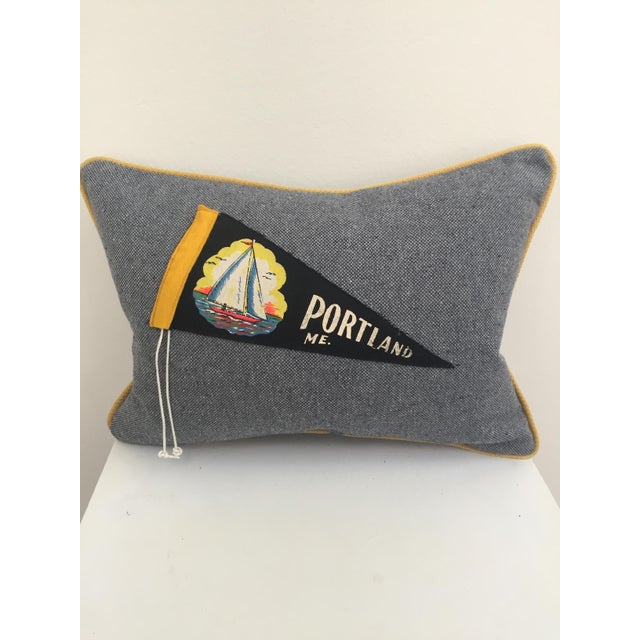 """""""Hit the Road!"""" Vintage Travel Pennant Pillow - Image 2 of 5"""