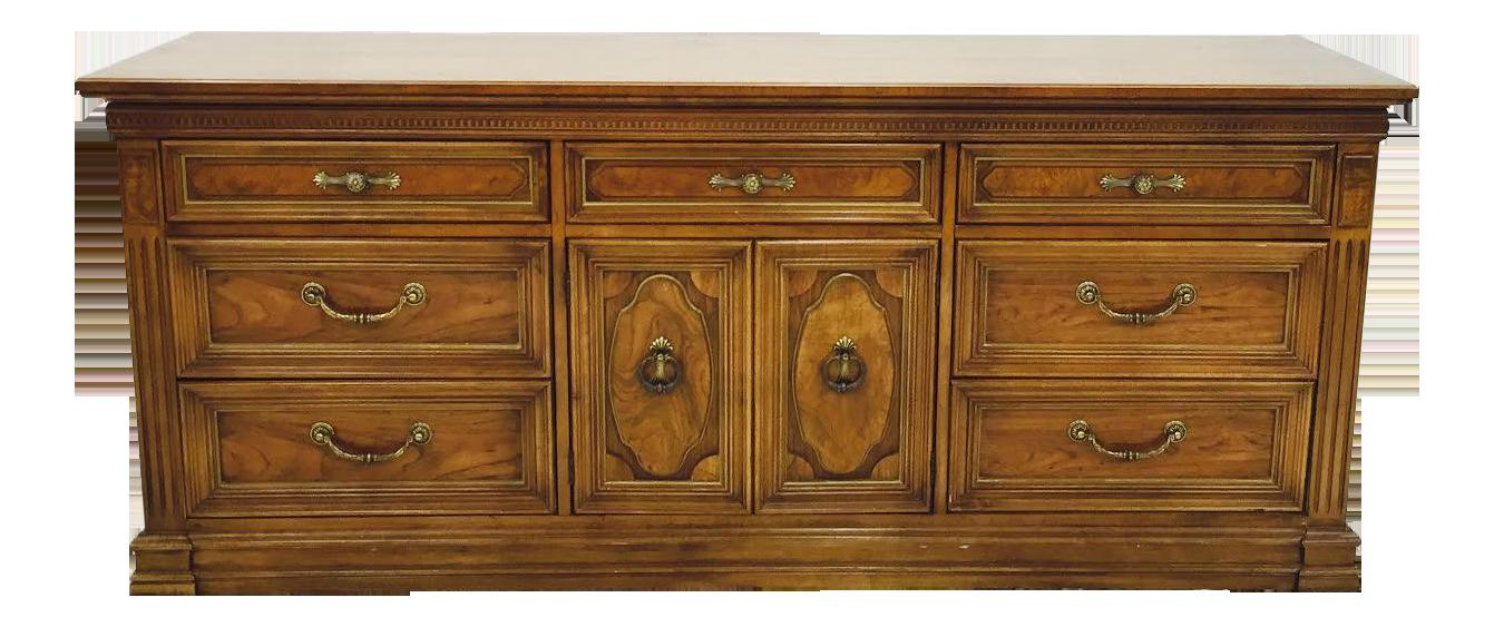 Good Thomasville Vintage Mid Century 9 Drawer Dresser