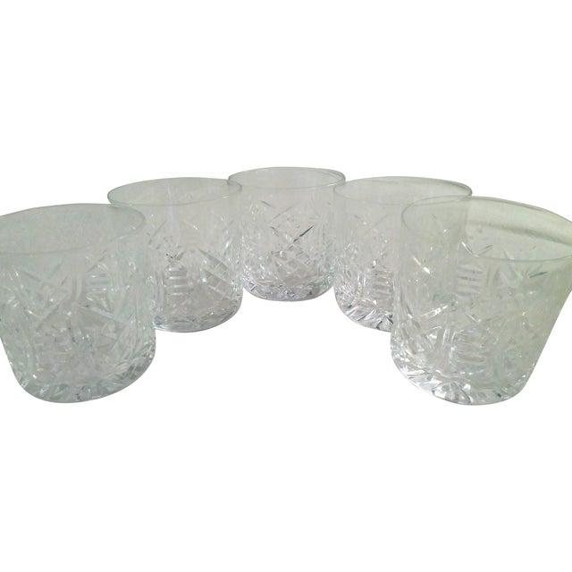 Vintage Etched Rocks Glasses - Set of 4 - Image 1 of 11