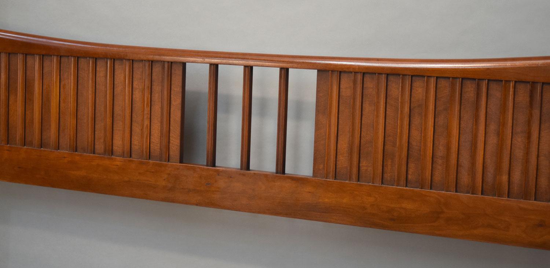 1960 John Widdicomb Walnut King Bed Chairish