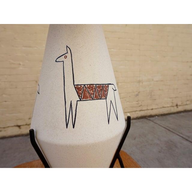 California Modernist Llama Lamp - Image 6 of 6