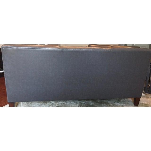 England Company Dark Gray Leather Sofa - Image 3 of 3