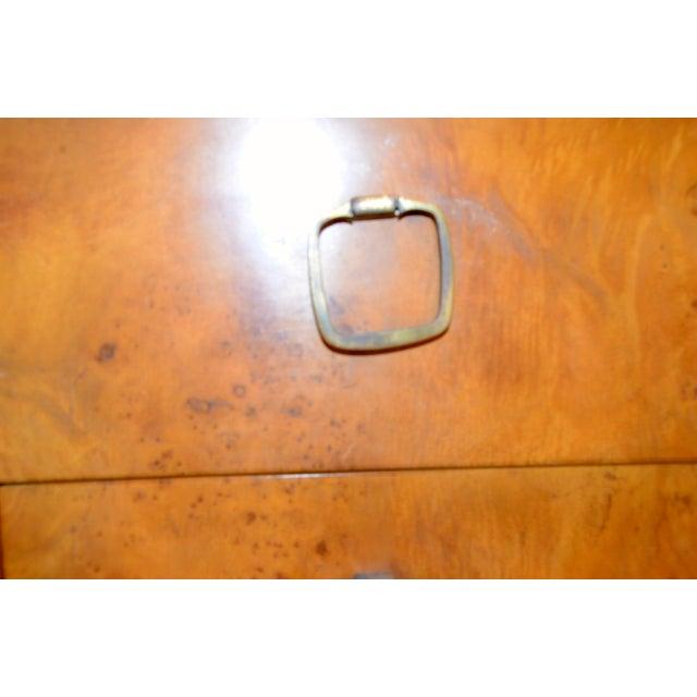 Image of John Stuart for Widdicomb Walnut Dresser with Brass Pulls