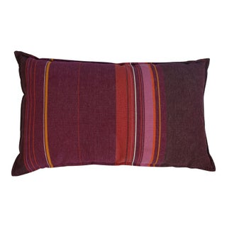 Pink, Orange and Purple Striped Pillow