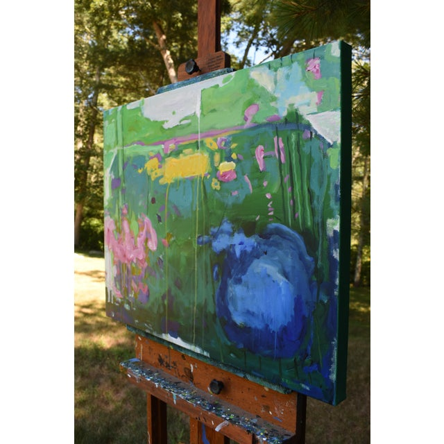 "Stephen Remick Abstract Painting, Garden Party Painting - 24"" X 30"" - Image 7 of 9"