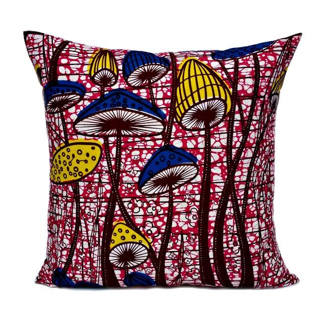 Flower Patch African Dutch Wax Pillows - A Pair - Image 1 of 3