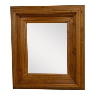 Vintage Pine Framed Bevelled Mirror