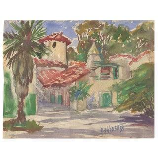 1930s Edna B. Hotchkiss Watercolor