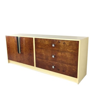 Burl Wood & Lacquered Credenza