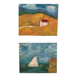 Landscape & Seascape Paintings - A Pair